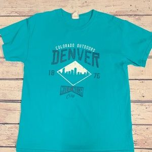 Tops - unisex vintage teal Colorado T-shirt large L